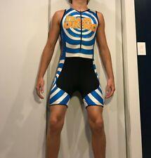 mens cycling bike triathlon singlet skinsuit speedsuit running lycra spandex S