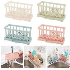 2x Kitchen Sink Sponge Holder Storage Organizer Soap Drainer Rack Strainer Shelf