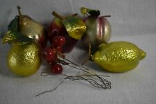 Apple, Pear, Lemon, and Cherries make up this fabulous shiny bunch of fake fruit