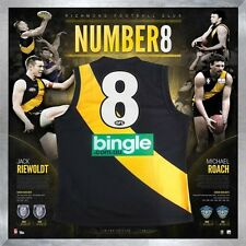 FAMOUS NUMBER 8's RIEWOLDT ROACH HAND SIGNED FRAMED JERSEY RICHMOND TIGERS