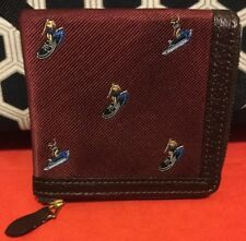 A Very Cool Hip Shoe Surfer Print Maroon Red Beams Plus Japan Coin Purse Wallet