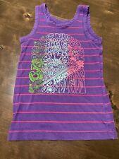 euc GAP KIDS Purple Pink Embellished Striped TANK TOP Shirt S small 6 7