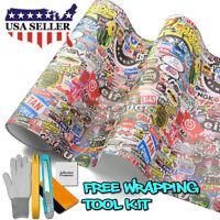 "60/""x60/"" Sticker Bomb Vinyl Wrap Decal Film Graffiti Cartoon JDM Anime DIY #IL"