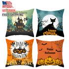 4PCs Halloween Pillow Case Cover Pillowcase Sofa Cushion Cover Home Decor