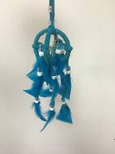 """SMALL DOUBLE Dreamcatcher 2"""" , Made in Mexico , Wall Decor , Handmade, TURQUOISE"""