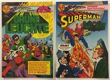 Superman Presents Green Lantern 6 and Superman / Batman 12 German DC Comics 1980