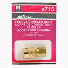 Milton Air Coupler 1/4 Inch  Nptf S 715 S715