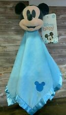 Disney MICKEY MOUSE Baby Lovey Security Blanket Plush Soft Blanket