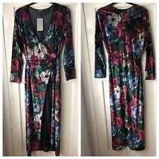 Zara Printed Velvet Kimono Jacket Size L