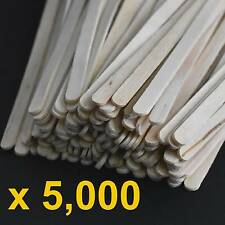 5000 PC Wooden Coffee Stirrers Food Grade Craft Eyebrow Waxing Sticks 140mm