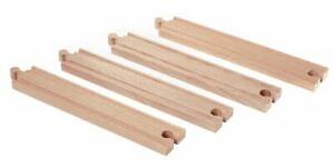 Brio LONG STRAIGHT TRAIN TRACKS Wooden Nursery Toy Railway Play Time Gift BN