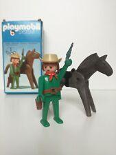 Playmobil 3342 v2 - Cowboy with Horse (Klicky-box, OVP)