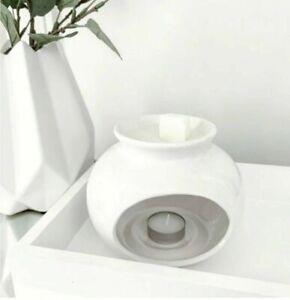 White Ceramic Wax Melt Oil Burner Tealight Holder Diffuser Ornament Gift Sophia