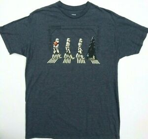 Star Wars Funny T-Shirt - Walking Abbey Road Darth Vader Stormtroopers Tee New