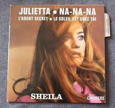 Sheila, Julietta, EP - 45 tours - imprimerie Jat - sans rabats au verso