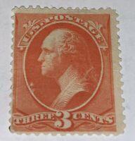 Scott #214 3c President George Washington 1887 Well Centered Stamp