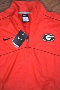 NWT Nike 1/4 Zip Woven Windbreaker Jacket Red Georgia Bulldogs Men's Medium M