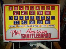 American Shuffle Board Backglass, Right to Left. Shipping is available