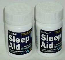 2 Bottles Of Health A2Z Sleep Aids, Diphenhydramine HCl  25mg 60 Tabs Exp 11/20