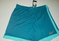 nike mens slim dri-fit basketball sports activewear mesh shorts sz: XXL -blue