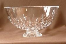 "Vera Wang-Fidelity-10"" Footed Crystal Bowl -Wedgewood- Lead Crystal-Made/Germany"
