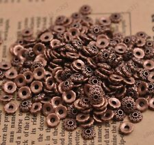 100PCS Flower Bead Caps Floral Spacer Beads 6MM Tibetan Copper Alloy 3081
