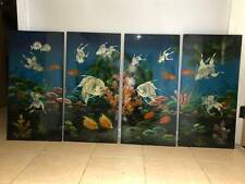 4 piece Gloss Board Mother of Pearl Artwork