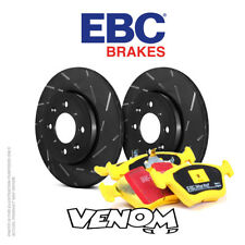 EBC rear brake kit discs & TAMPONS for Audi a4 Convertible 8 H 3 2002-2006