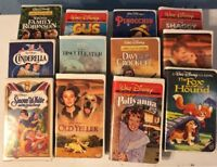Lot of 12 Walt Disney Pictures VHS Movies : Pinocchio, Cinderella...and More! $D