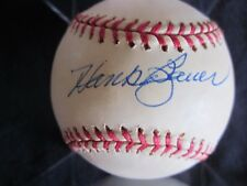 Hank Bauer Signed AL Baseball - Great Yankee-authentic!!!