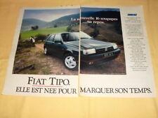 Publicité Advertising 1990 Fiat Tipo 2 Pages