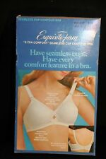 Nos 34 C Vintage 60s 70s Seamless Cup Exquisite Form Contour Padded Bra White