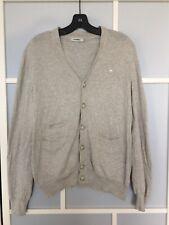J. Lindeberg Melvin Grey Cotton Cardigan Size Medium