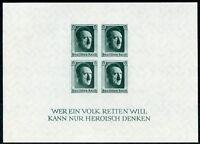 GERMANY DEUTSCHES REICH  S/S  SCOTT#B103  MINT NEVER HINGED -SCOTT $175.00