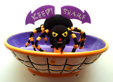 Spider Halloween Keep Share Candy Dish Bowl Talking Animatronic Multicolor