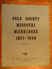 TOWN HISTORY BOOK COLE COUNTY MO MISSOURI JEFFERSON CITY MARRIAGES GENEALOGY