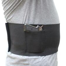"""Large Concealed Belly Band Holster Elastic Band Pistol Holster Fits 38-48"""" Waist"""