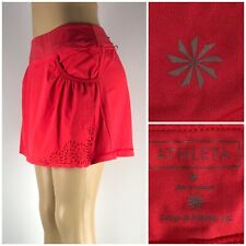 Athleta Women Medium Skort Laser Cut Drawstring Red Style 905937 EUC