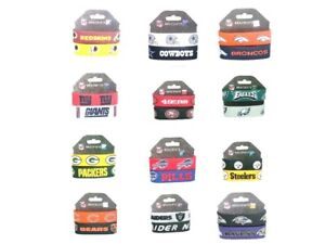 Silicone Bracelet Wristband NFL Official Licensed 2 pack All Teams