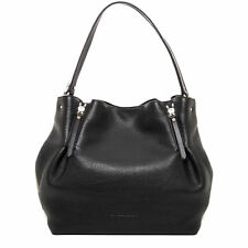 03c4f4e72360d Burberry Women s Medium Maidstone Leather   Canvas Handbag Black