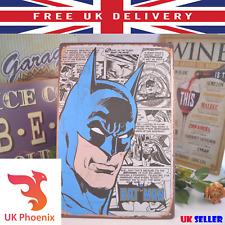 BATMAN Comic Wall Metal Plaque Tin Sign 20x30cm Cartoon for Teenager Indoor Gift