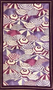 660$ Loro Piana Lavender Limited Edition Cotton Beach Towel Made in Italy