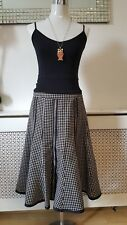 Principles Black White Monochrome Wool Mix Flippy Ladies Winter Skirt Size 10
