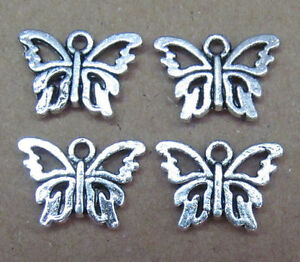 30pc retro Tibet Silver Charm butterfly beads accessories PL013