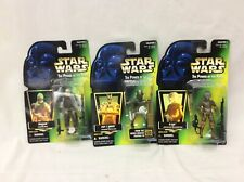 1996 Star Wars The Power Of The Force 3 Action Figures Dengar, 4-Lom, ASP-7Droid