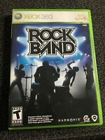 ROCK BAND - XBOX 360 - NO MANUAL - FREE S/H - (UU)