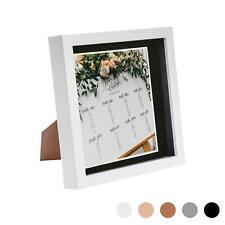 8 X 8 3D Caja Marco fotos visualización profunda y 6 X Montaje 6 Blanco/Negro