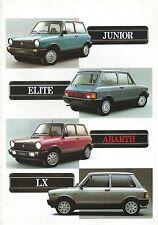 Lancia Autobianchi Abarth A112 • 1984 ± • Brochure Prospekt • Dutch • EXCELLENT