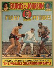 Heavyweight Fight TOMMY BURNS vs JACK JOHNSON Glossy 8x10 Photo Print Poster