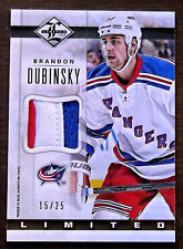 """2012/13 BRANDON DUBINSKY PANINI LIMITED """"LIMITED MATERIAL"""" 3 CLR PATCH / 25"""